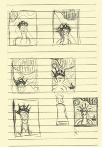 scream Munch sketch